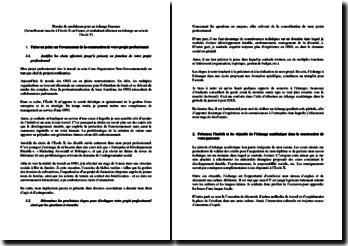 Dossier de candidature pour un échange Erasmus