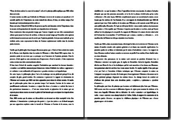 Mill, La nature, Extrait : explication de texte