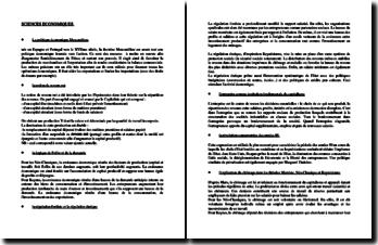 Sciences économiques : points clés du programme (Licence)