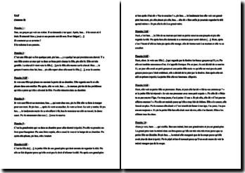 Test TAT, passation complète, sujet fille de 12 ans, analyse et interprétation