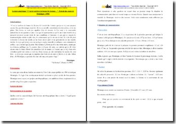 Montaigne, Essais, Au lecteur : explication de texte