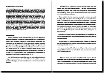 Freud, Une difficulté de la psychanalyse, Extrait : commentaire