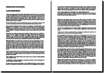 Epicure, Lettre à Ménécée, Extrait : explication de texte