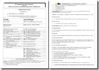 Fiche bilan ACRC : vente en boutique (Camaïeu)