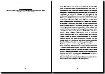 Commentaire du discours prononcé par Neville Chamberlain le 13 décembre 1938 au dîner de l'association de la presse étrangère