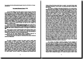 Dom Devic et Dom Vaisette, Histoire générale de Languedoc, Une montre d'hommes d'armes : commentaire