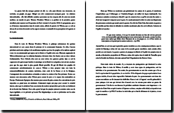 Thomas Woodrow Wilson, Les Quatorze points