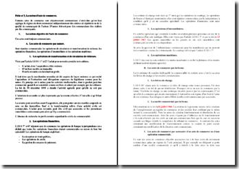 George Decocq, Droit commercial, Chapitre 3 : la notion d'acte de commerce