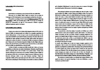 Bertholt Brecht, La Vie de Galilée : analyse et réflexion