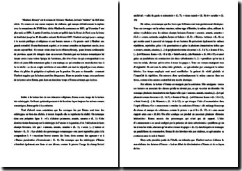 Flaubert, Mme Bovary, La lecture selon Emma : commentaire composé