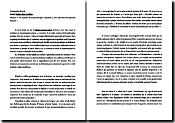Freud, Malaise dans la culture, Chapitre 5, Extrait : commentaire