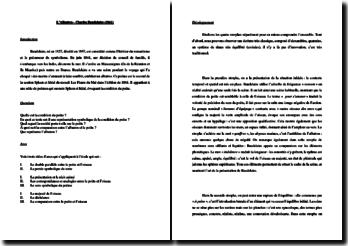 Charles Baudelaire, L'Albatros : étude linéaire