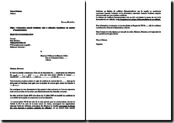 Contestation d'une amende forfaitaire suite à une utilisation frauduleuse du numéro d'immatriculation