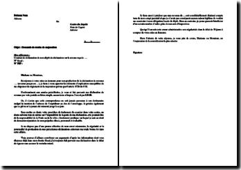 Lettre type de demande de remise de majoration (non-production de déclaration de revenus)