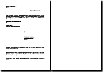 Demande de renvoi d'une affaire devant les juridictions de premier degré sans un ministère d'avocat obligatoire