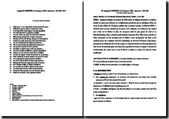Agrippa d'Aubigné, Les Tragiques, Livre VII, Jugement, La Terre ouvre son sein : commentaire