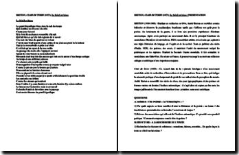André Breton, Clair de Terre, Le soleil en laisse : commentaire
