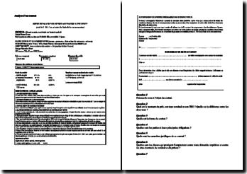 Analyse d'un contrat : offre préalable de prêt