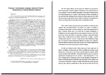 Mauriac, Thérèse Desqueyrioux, Chapitre 2, Extrait : commentaire