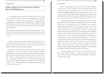 Comparaison de l'incipit et de l'excipit de Bel-Ami de Maupassant