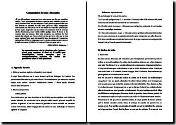Descartes, Méditations métaphysiques, Méditation 1 : commentaire