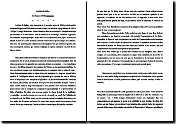 Joachim Du Bellay, Les Regrets, Sonnet CL : commentaire