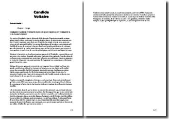 Voltaire, Candide, Incipit : commentaire