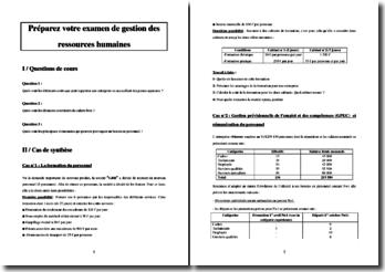 Examen type de Gestion des Ressources Humaines