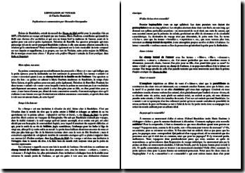 Baudelaire, L'Invitation au voyage : analyse
