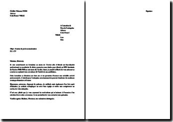 Lettre de motivation pour un contrat de professionnalisation en tant qu'assistante de gestion PME-PMI