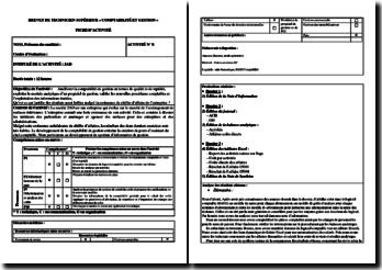 Fiche d'activité BTS CGO (APS) : société 2AD