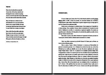 Paul Eluard, Notre Vie : commentaire composé