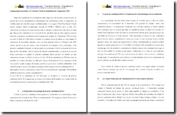 Commentaire des articles 1 à 7 du titre VII de la Constitution du 3 septembre 1791