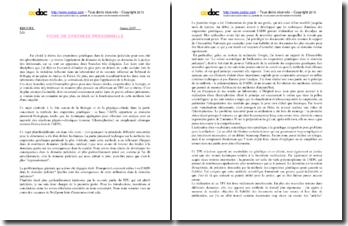 Synthèse personnelle de TPE sur les empreintes génétiques dans le domaine judiciaire