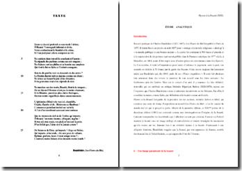 Baudelaire, Les Fleurs du Mal, Hymne à la Beauté (XXI) : étude analytique