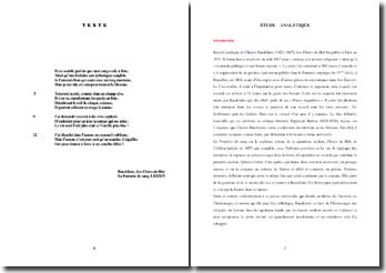 Baudelaire, Les Fleurs du Mal, La Fontaine de sang (LXXXIV) : étude analytique