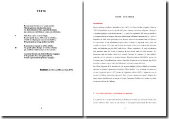 Baudelaire, Les Fleurs du Mal, Les Chats (LVI) : étude analytique