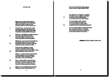 Baudelaire, Les Fleurs du Mal, Les Phares (VI) : étude analytique