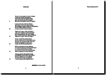 Baudelaire, Les Fleurs du Mal, Moesta et Errabunda (LV) : étude analytique