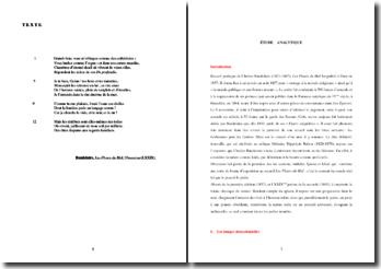 Baudelaire, Les Fleurs du Mal, Obsession (LXXIX) : étude analytique