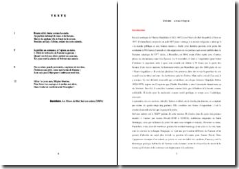 Baudelaire, Les Fleurs du Mal, Sed non satiata (XXIV) : étude analytique