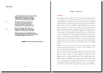 Baudelaire,Les Fleurs du Mal, Semper eadem (XL) : étude analytique
