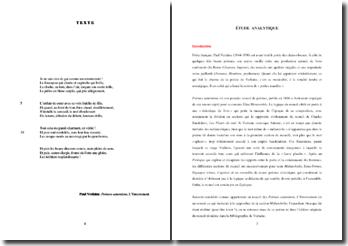 Verlaine, Poèmes saturniens, L'Enterrement : étude analytique