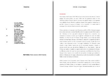 Verlaine, Poèmes saturniens, Soleils couchants : étude analytique
