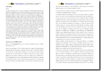 Platon, Gorgias, Le dialogue : explication de texte