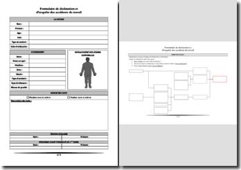 Formulaire d'enquête et d'analyse des accidents du travail