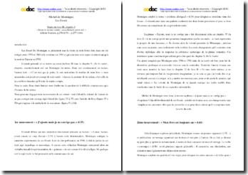 Montaigne, Les Essais, Livre III, Chapitre 9, De la vanité : étude linéaire