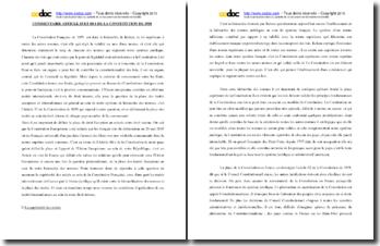 Commentaire des articles 55 et 88-1 de la Constitution de 1958