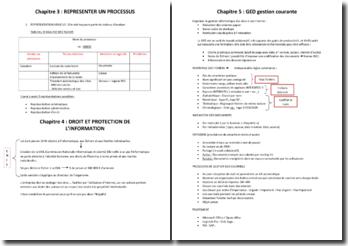 Le processus, le droit de l'information et la GED (BTS)