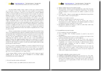 Commentaire de l'arrêt de la Chambre sociale de la Cour de cassation du 25 octobre 2005 relatif à l'affectio societatis